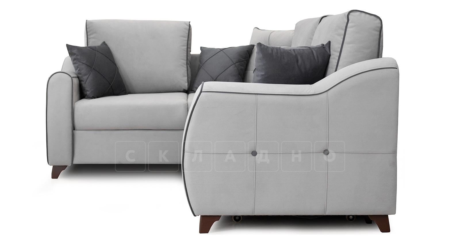 Диван-кровать угловой Флэтфорд светло-серый фото 3 | интернет-магазин Складно