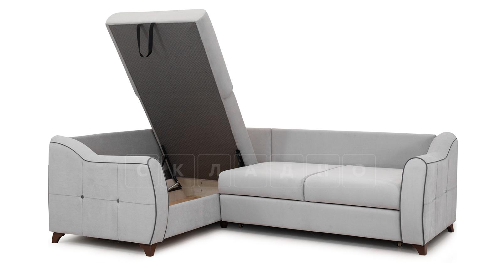 Диван-кровать угловой Флэтфорд светло-серый фото 5 | интернет-магазин Складно