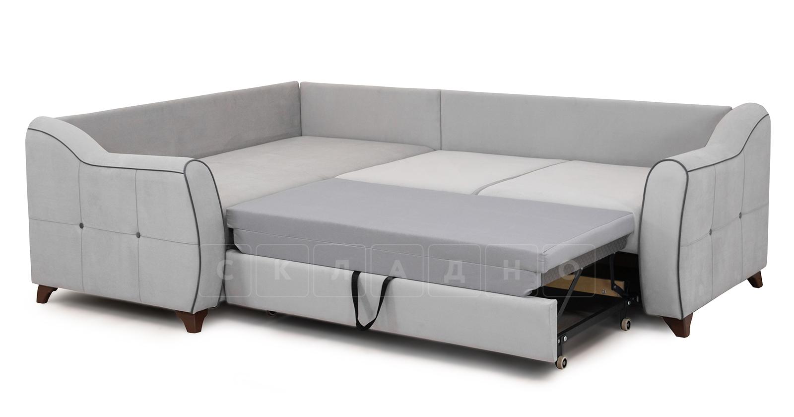 Диван-кровать угловой Флэтфорд светло-серый фото 6 | интернет-магазин Складно