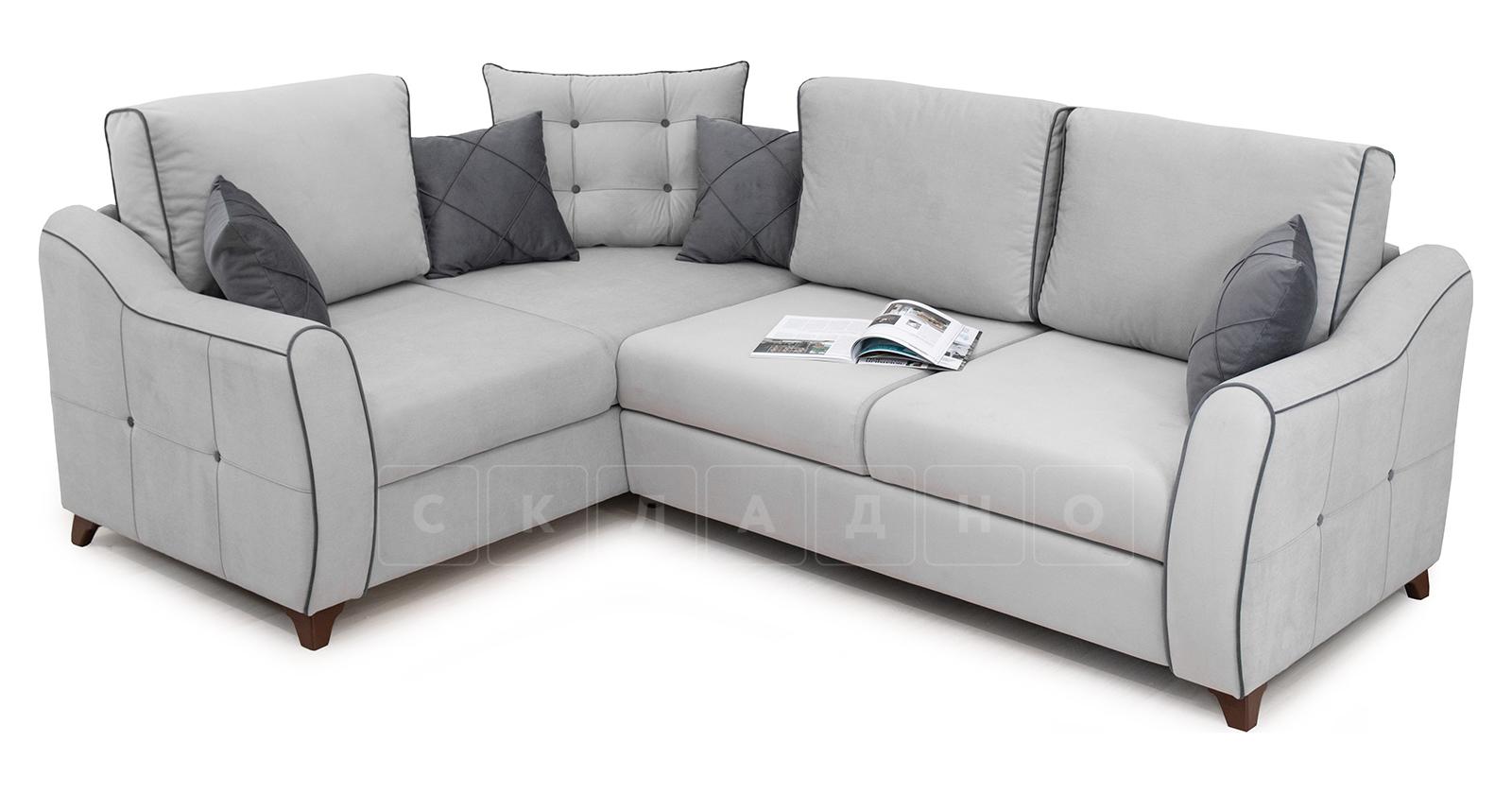 Диван-кровать угловой Флэтфорд светло-серый фото 7 | интернет-магазин Складно