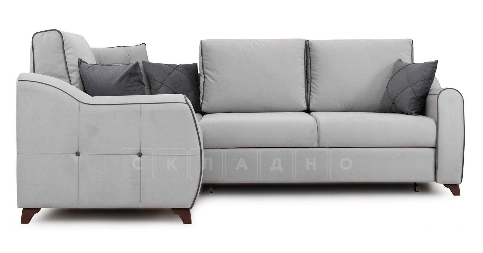 Диван-кровать угловой Флэтфорд светло-серый фото 2 | интернет-магазин Складно