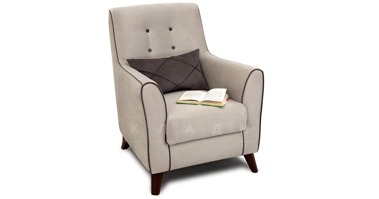 Кресло для отдыха Флэтфорд серо-бежевый фото 5 | интернет-магазин Складно