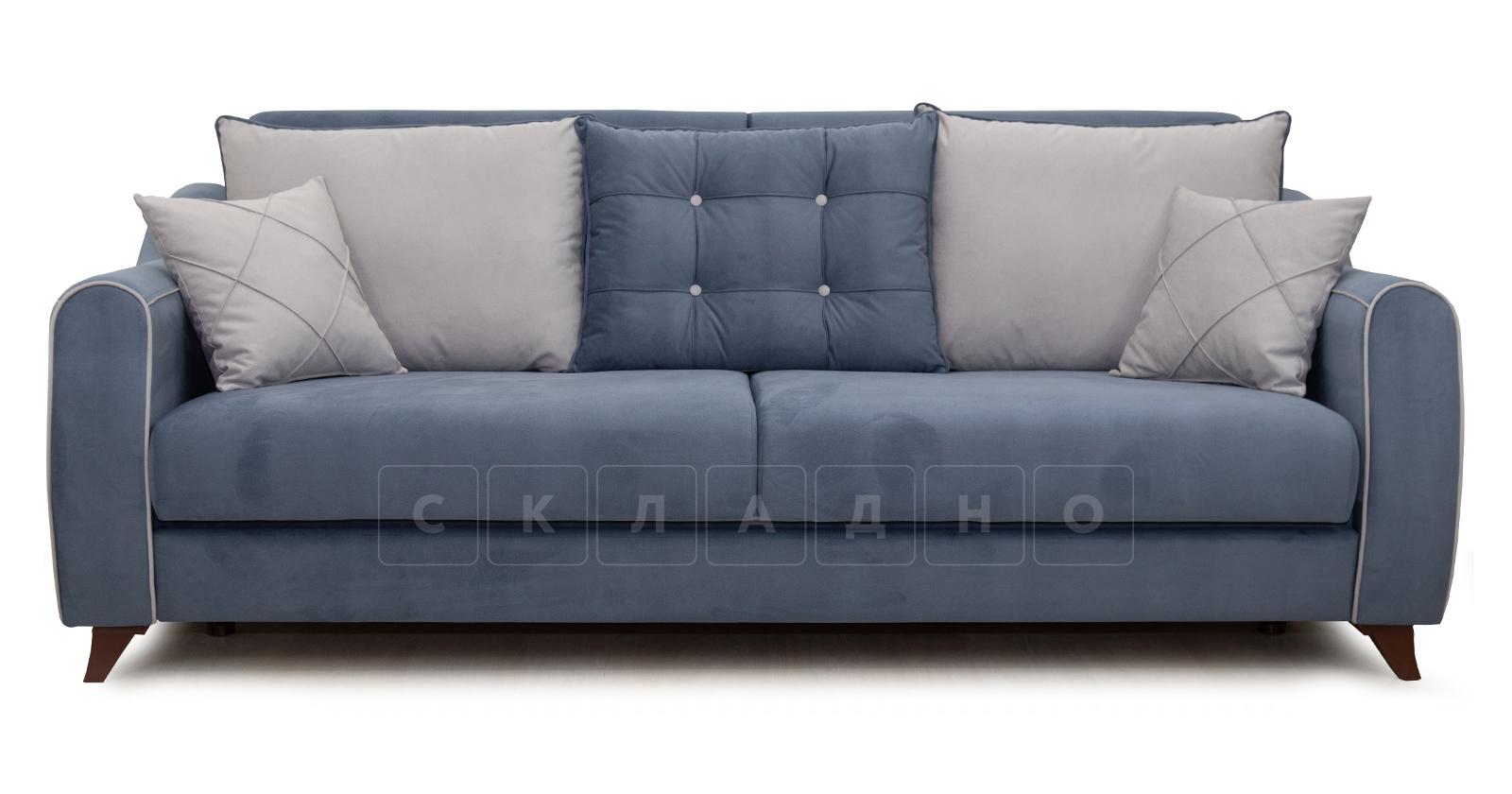 Диван-кровать Флэтфорд серо-синий фото 3 | интернет-магазин Складно