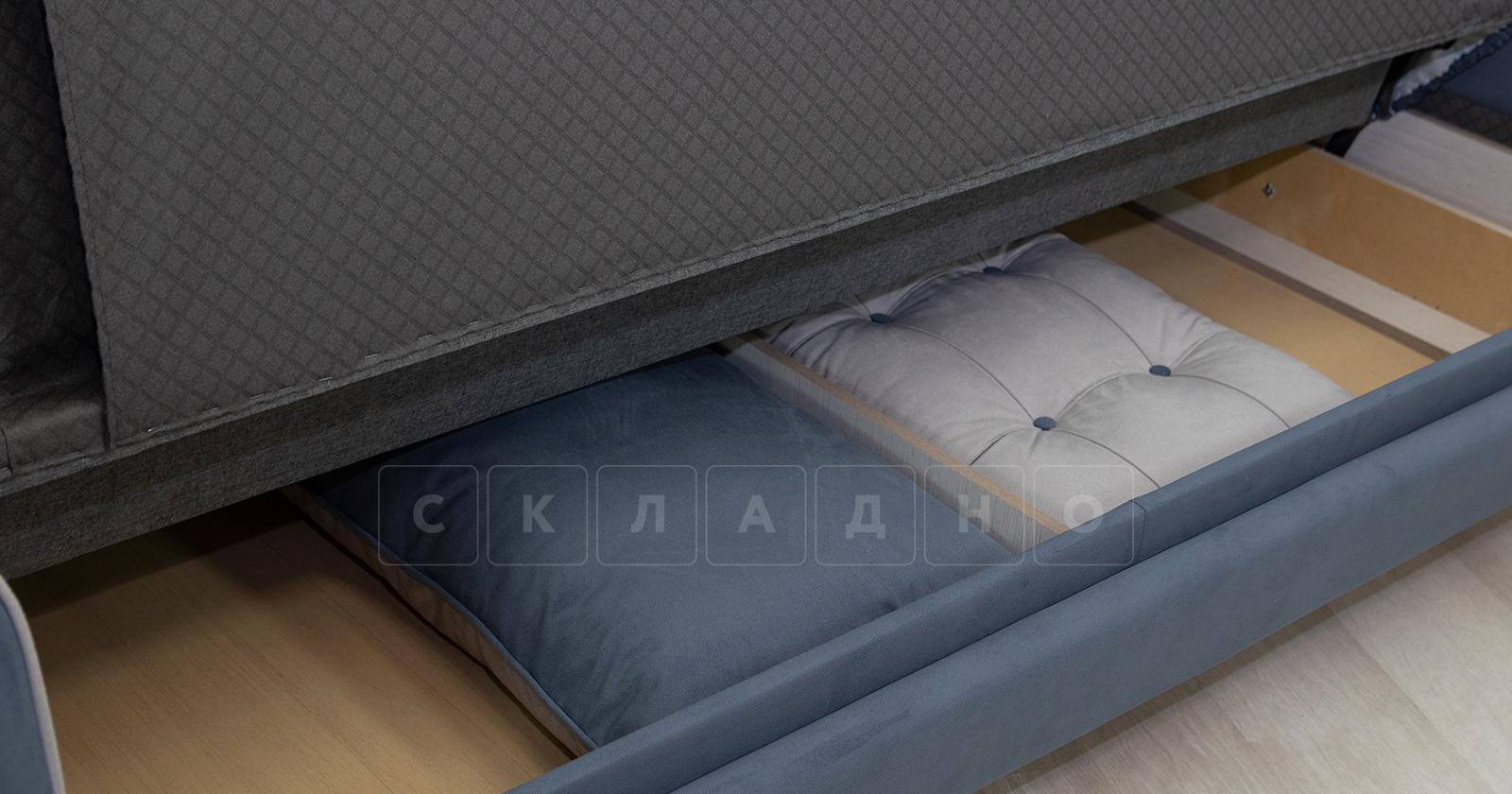 Диван-кровать Флэтфорд серо-синий фото 12 | интернет-магазин Складно