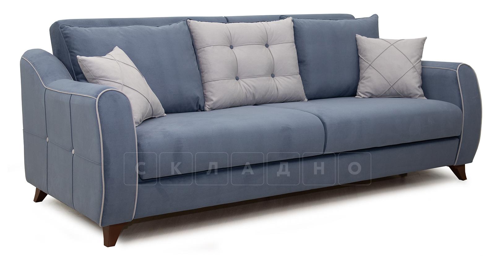 Диван-кровать Флэтфорд серо-синий фото 1 | интернет-магазин Складно