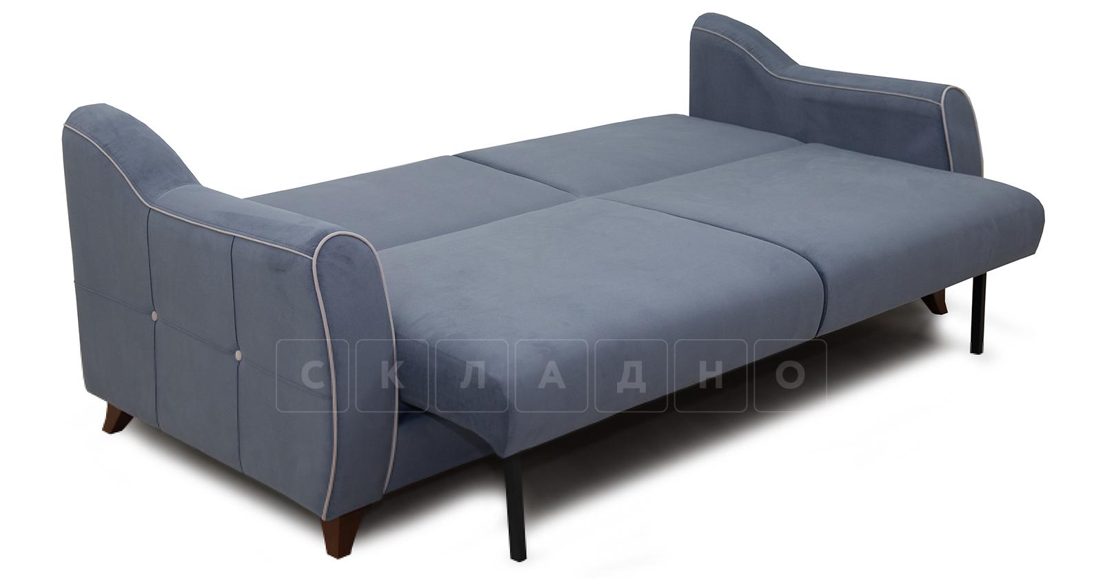 Диван-кровать Флэтфорд серо-синий фото 5 | интернет-магазин Складно