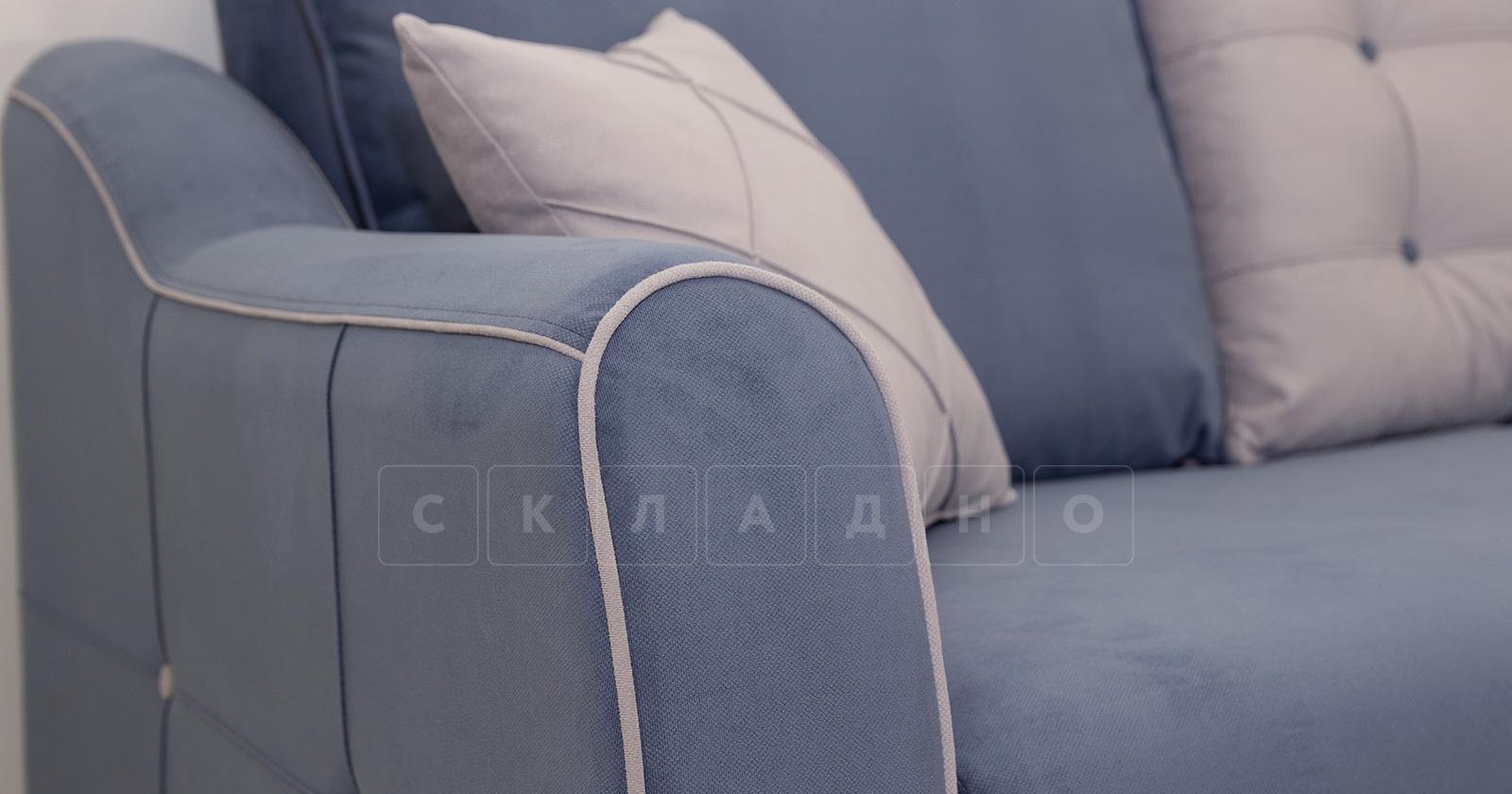Диван-кровать Флэтфорд серо-синий фото 6 | интернет-магазин Складно