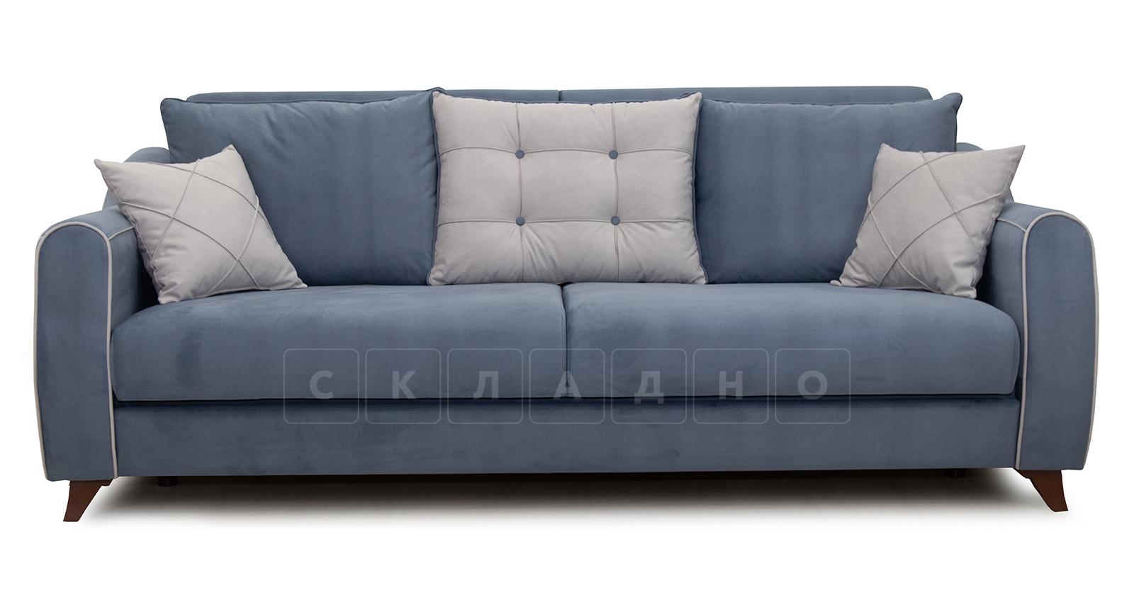 Диван-кровать Флэтфорд серо-синий фото 2 | интернет-магазин Складно