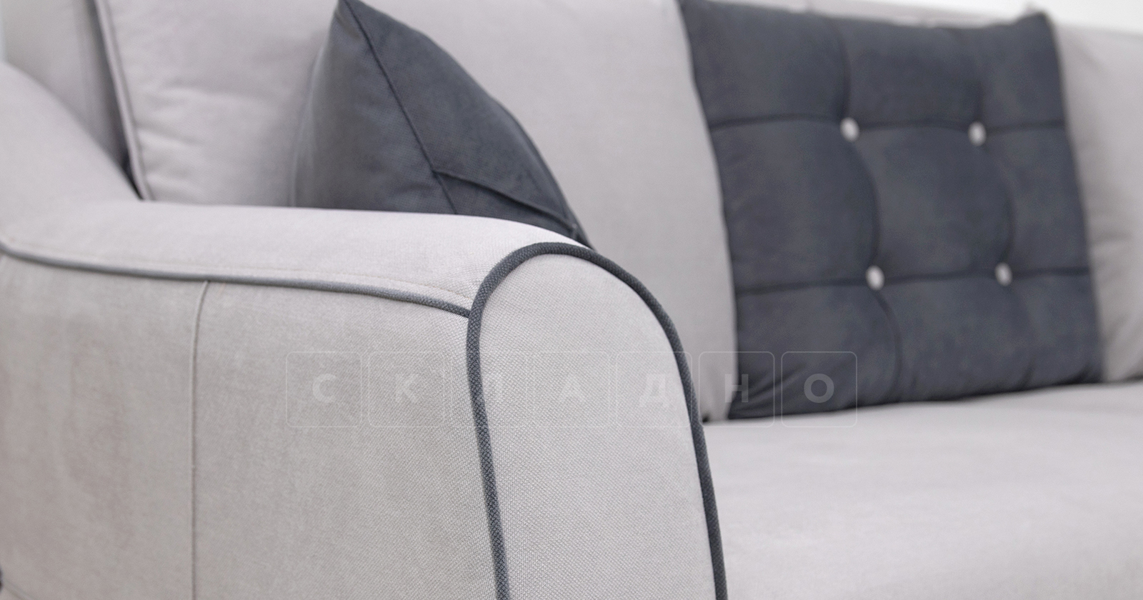 Диван-кровать Флэтфорд светло-серый фото 6 | интернет-магазин Складно