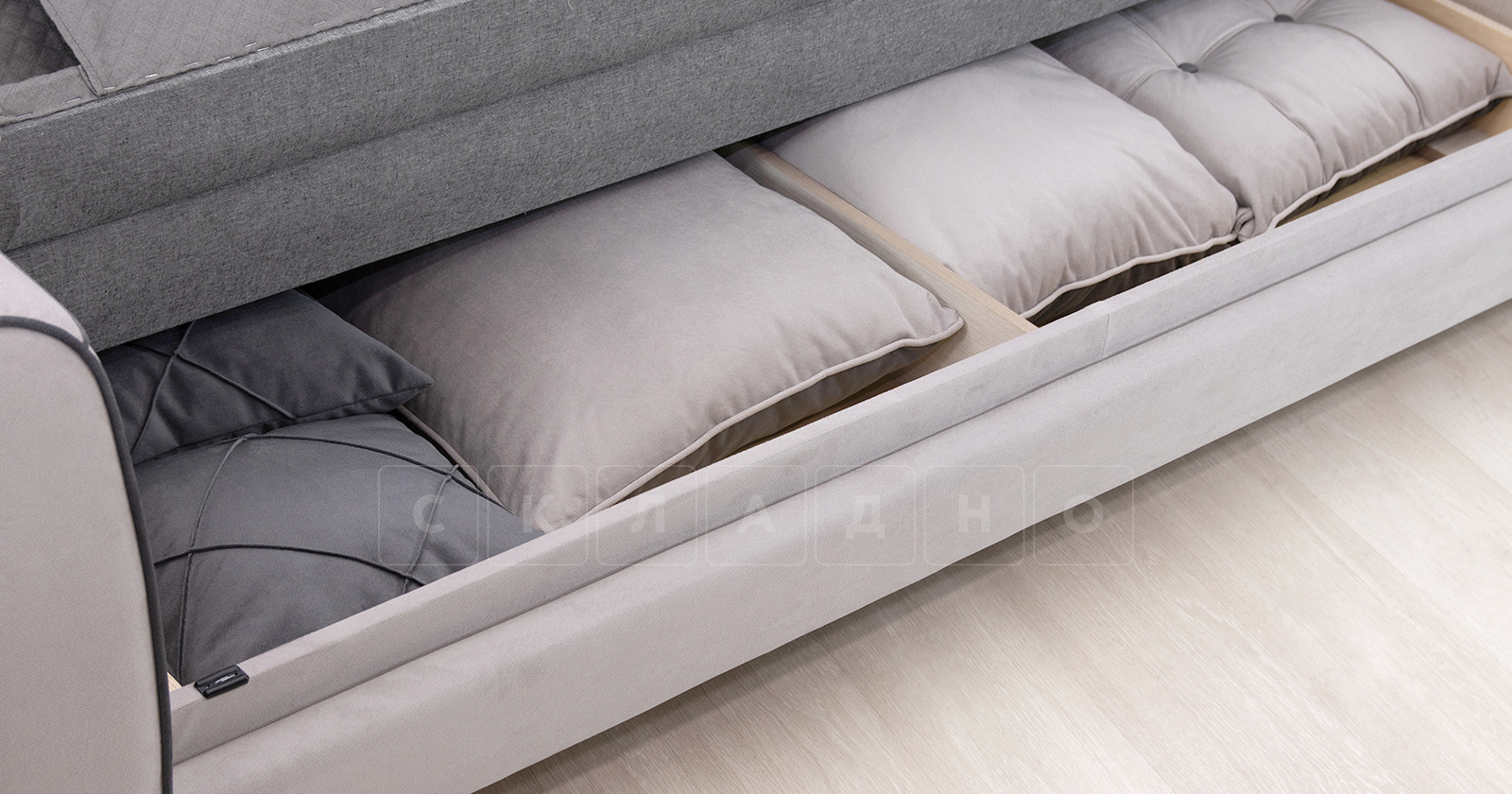 Диван-кровать Флэтфорд светло-серый фото 10 | интернет-магазин Складно