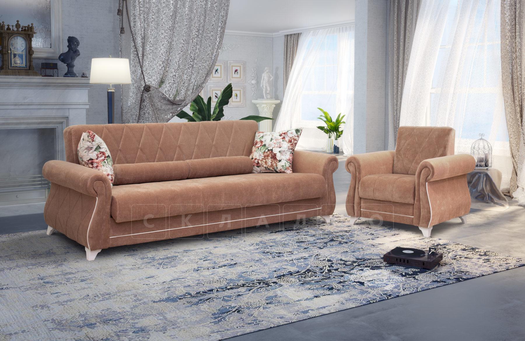 Диван-кровать Роза глиняный-коричневый фото 4   интернет-магазин Складно