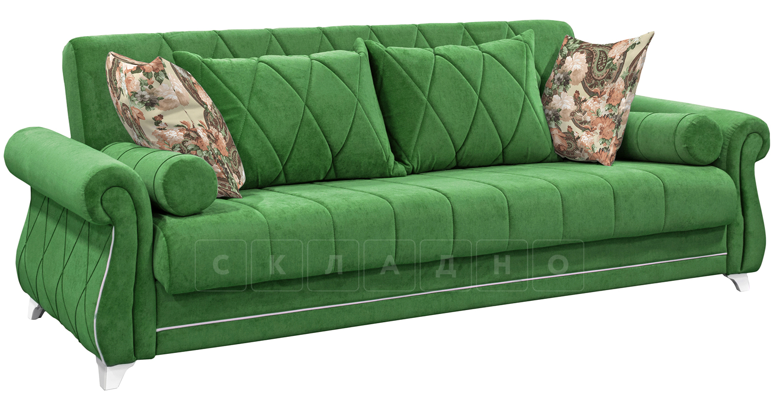 Диван-кровать Роза хвойный зеленый фото 1   интернет-магазин Складно