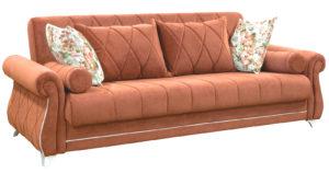 Диван-кровать Роза лососевый-15745 фото | интернет-магазин Складно