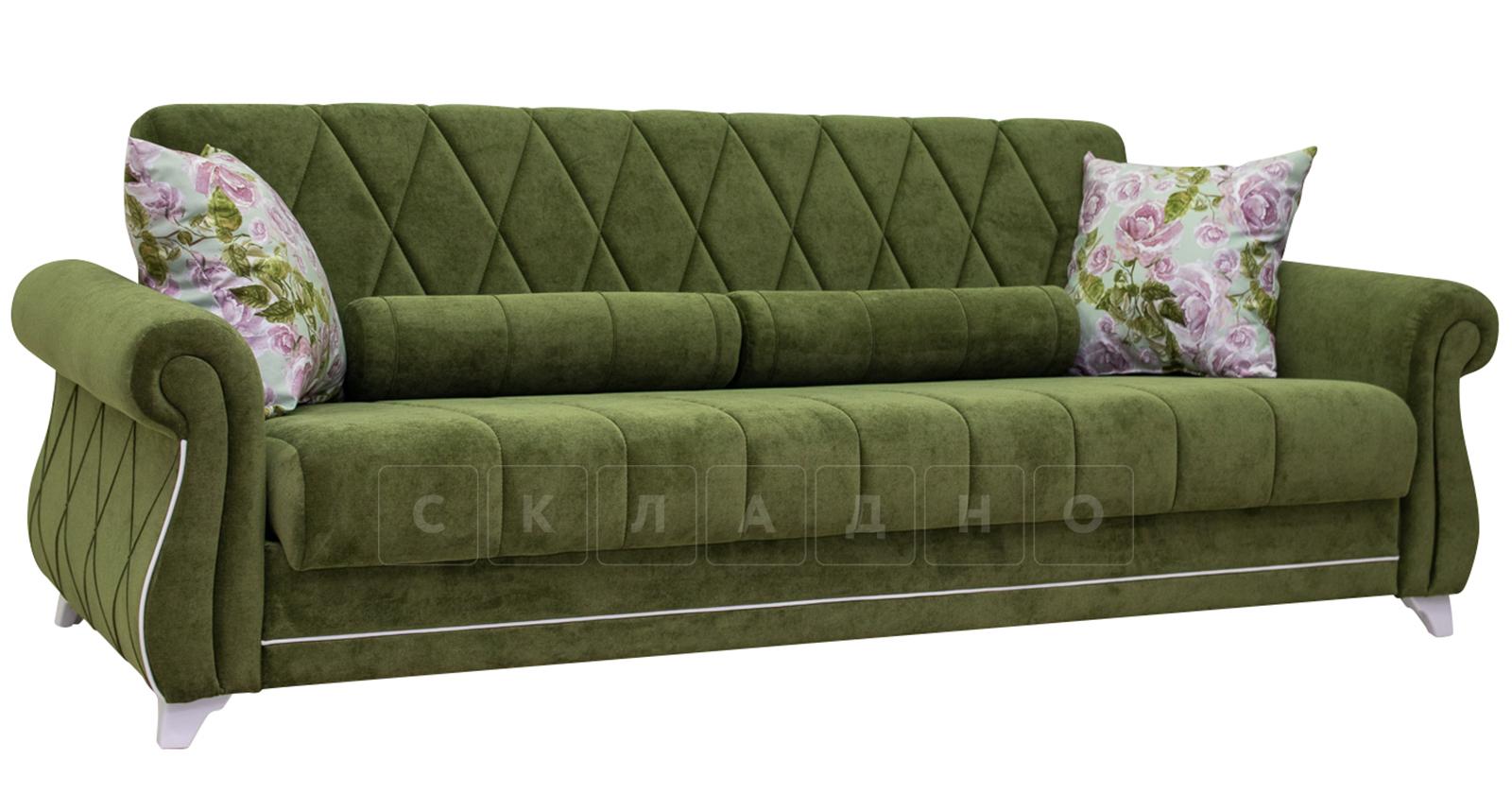 Диван-кровать Роза оливковый фото 1 | интернет-магазин Складно