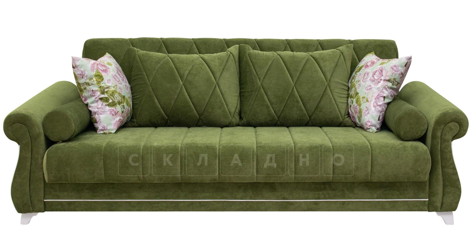 Диван-кровать Роза оливковый фото 3 | интернет-магазин Складно