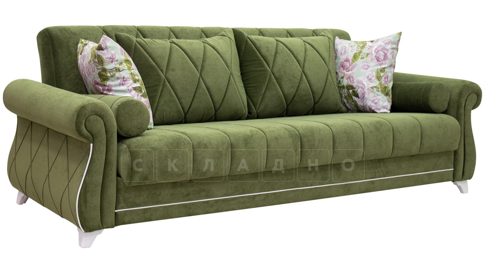 Диван-кровать Роза оливковый фото 4 | интернет-магазин Складно