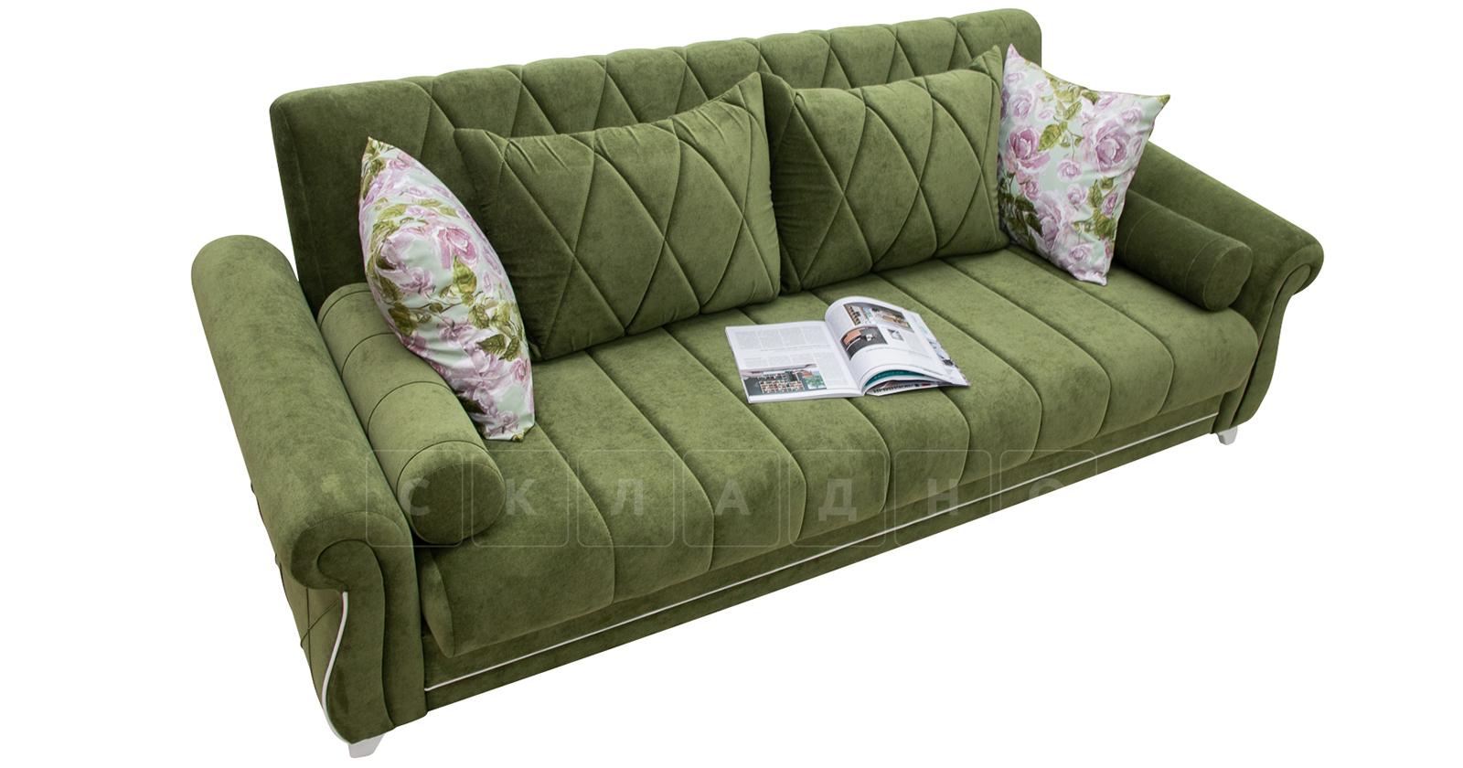 Диван-кровать Роза оливковый фото 5 | интернет-магазин Складно