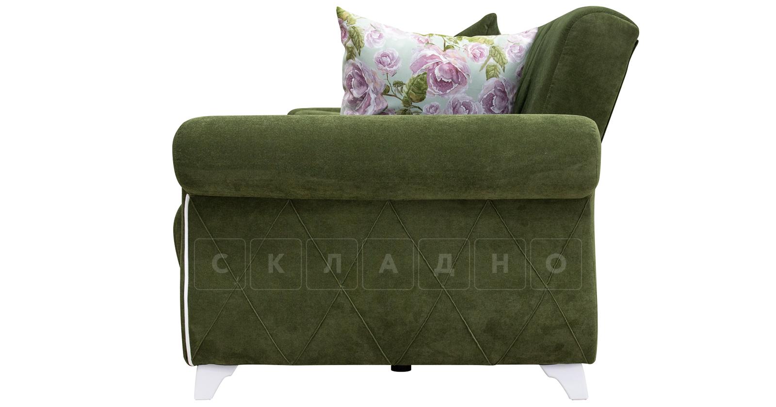 Диван-кровать Роза оливковый фото 6 | интернет-магазин Складно