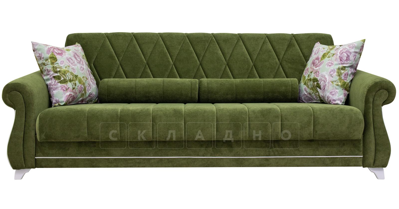 Диван-кровать Роза оливковый фото 2 | интернет-магазин Складно