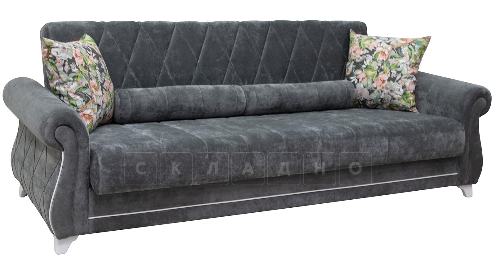 Диван-кровать Роза стальной серый фото 1   интернет-магазин Складно