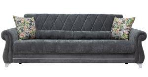 Диван-кровать Роза стальной серый 43330 рублей, фото 3   интернет-магазин Складно
