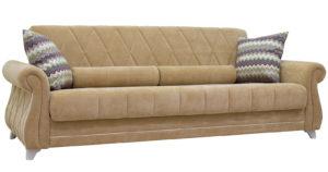 Диван-кровать Роза желто-песочный-15714 фото | интернет-магазин Складно