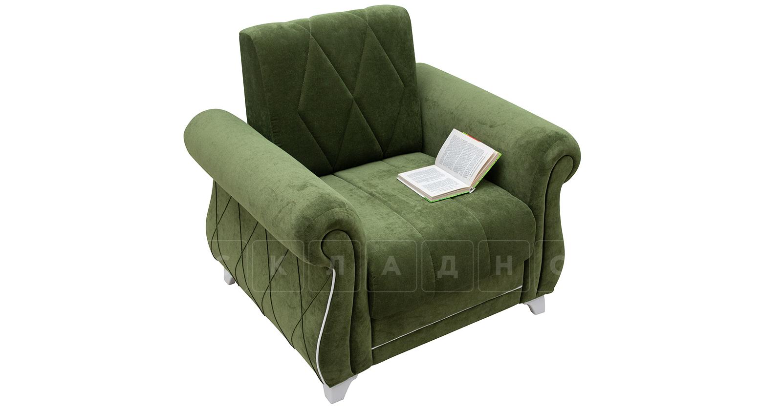 Кресло для отдыха Роза оливковый фото 5 | интернет-магазин Складно