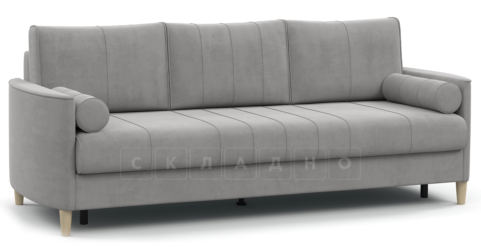 Диван-кровать Лорен серебристый серый фото 1   интернет-магазин Складно