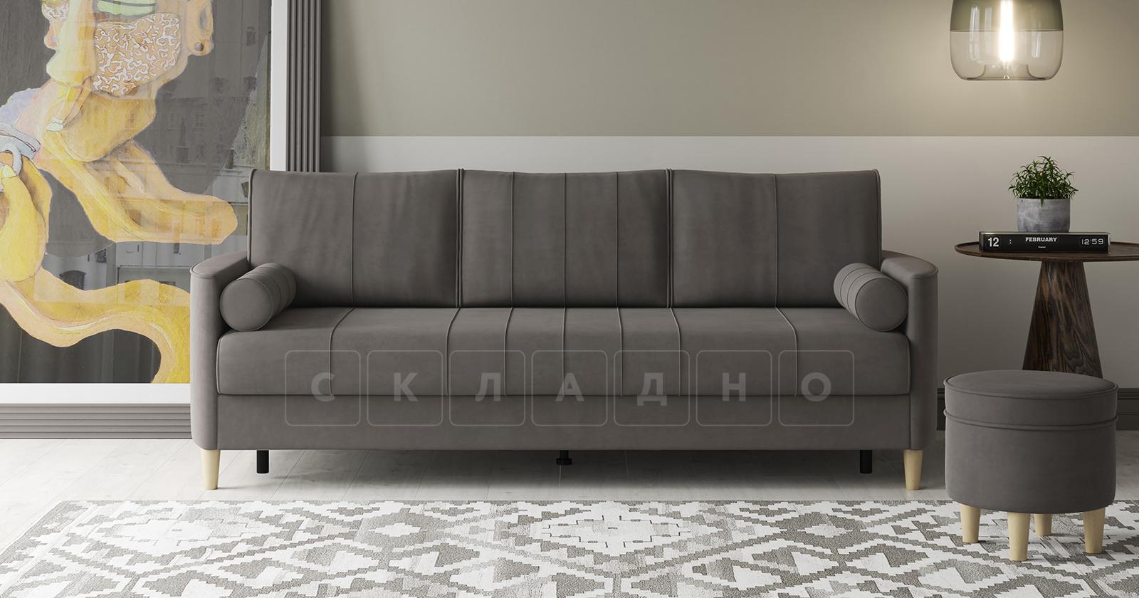 Диван-кровать Лорен серо-коричневый фото 12 | интернет-магазин Складно