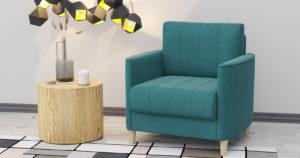 Кресло для отдыха Лорен бирюзовый 12850 рублей, фото 2 | интернет-магазин Складно