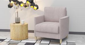 Кресло для отдыха Лорен пудровый 13590 рублей, фото 2 | интернет-магазин Складно