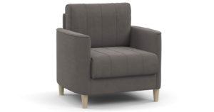 Кресло для отдыха Лорен серо-коричневый-15609 фото | интернет-магазин Складно