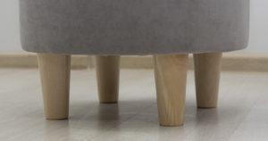 Пуф Лорен серебристый серый 3750 рублей, фото 2 | интернет-магазин Складно