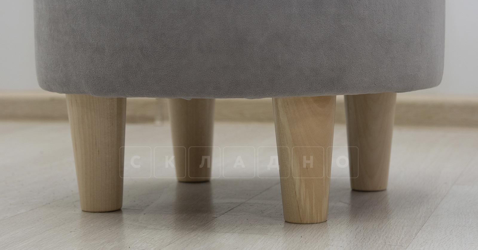 Пуф Лорен серебристый серый фото 2 | интернет-магазин Складно