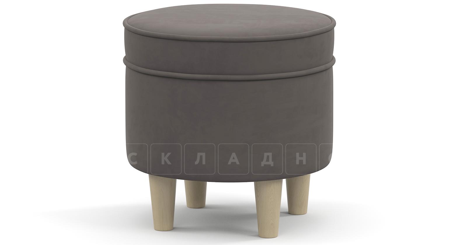 Пуф Лорен серо-коричневый фото 1 | интернет-магазин Складно